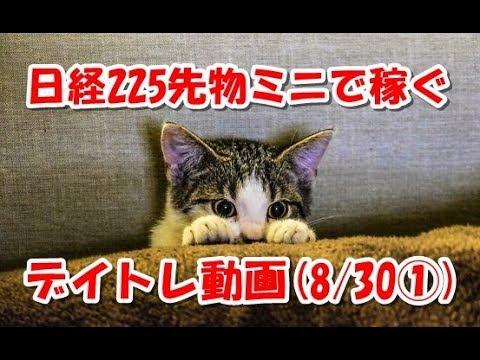 日経225先物ミニで稼ぐ~デイトレ動画(20180830①)
