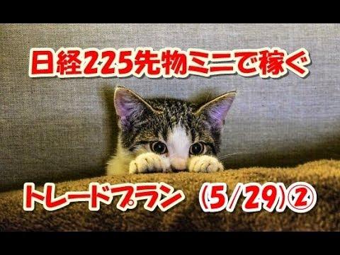 日経225先物ミニで稼ぐ~トレードプラン(5/29)②