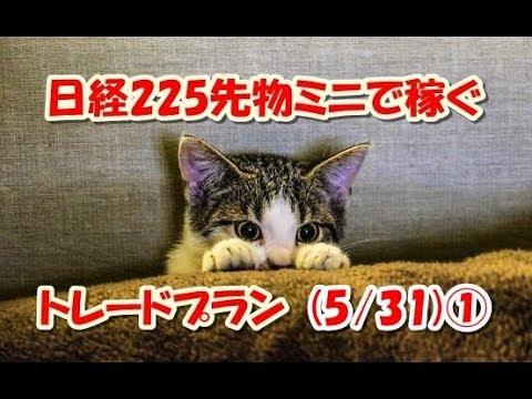 日経225先物ミニで稼ぐ~トレードプラン(5/31)①